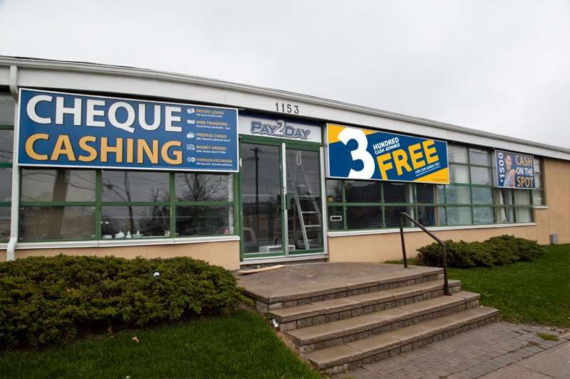 Payday loans & cheque cashing in Scarborough