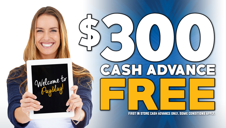 $300 Cash Advance FREE!