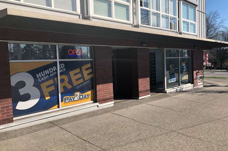 Payday loans Vancouver store
