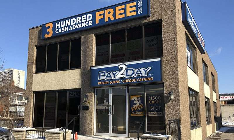 Mississauga payday loans store