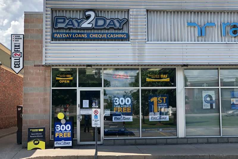 Payday loans store in Brampton